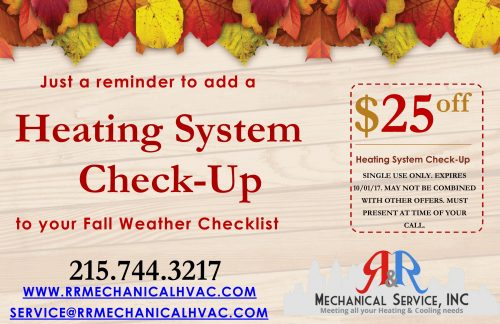 Fall Weather Checklist HVAC Postcard